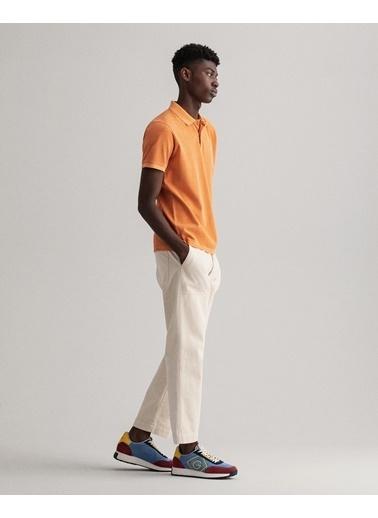 Gant Erkek Turuncu Regular Fit Polo Oranj